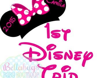 First Disney Trip IRON ON TRANSFER - Tshirt - Bodysuit - Tote Bags - First Disney Trip - Disney