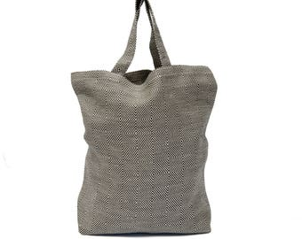 Semi Linen Market Bag, Linen/Cotton Shopping Bag, Linen/Cotton Tote Bag