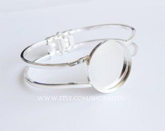 5pcs 25mm Adjustable Brass Bracelet Setting Base, Bracelet Supply, Blank Bracelet Cuff,Bezel Cuff,25mm Bezel Bracelet Bangle
