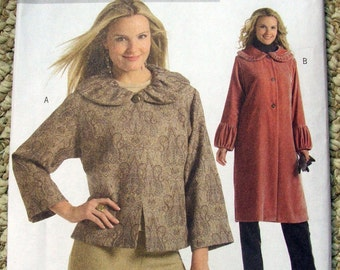 Butterick Fast and Easy B4930 Jacket and coat sizes Large X-Large