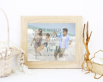 Fathers Day Gift, Custom Photo Art, Fathers Day Gift from Daughter, Birthday Gift for Dad Gift For Mom Custom Canvas First Christmas - 45777