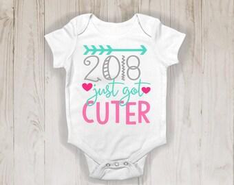 Newborn onesie: 2018 Just Got Cuter!