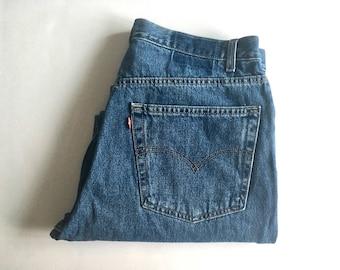 Vintage Men's 80's Levi's 550, Jeans, Relaxed Fit, Denim (W36)