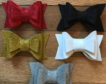 Holiday Bow // Glitter Bow // Pick Your Color Bow