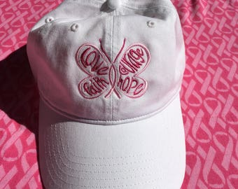 Breast Cancer Love Faith Courage Hope Hat