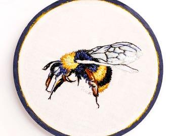 Bee Thread Painting