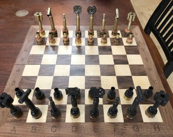 Military themed spent ammo Chess Set (pieces only)