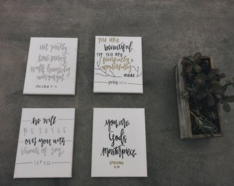 Hand Lettered Canvas