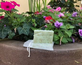 Peppermint and Spearmint Sea Salt Soap (Travel/Guest)