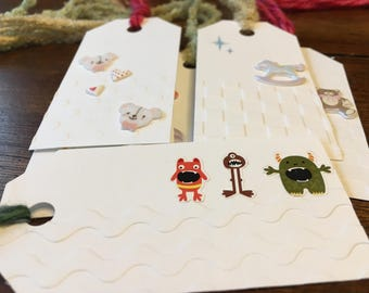 Baby/Toddler gift tags - Set of 6
