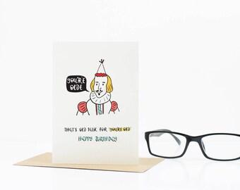 Birthday Card - Funny Birthday Card - Best Friend Birthday Card - You Olde - Birthday Card