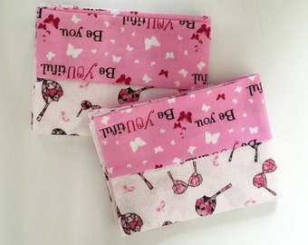 Cute Camo Bra Print Flannel Pillowcases. Pillowcase Set. Standard Pillow Cases. Pillowcases For All Ages