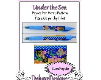 Bead Pattern Peyote(Pen Wrap/Cover)-Under the Sea