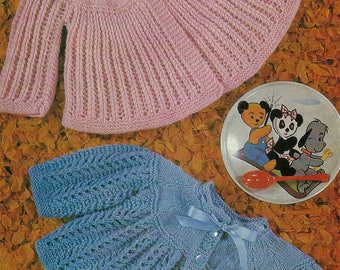 PDF Instant Digital Download baby matinee coats knitting pattern  19 to 20 inch  (505)