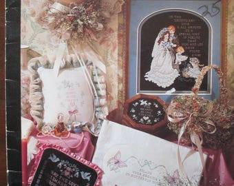 """Stoney Creek Cross Stitch Pattern Booklet 1987 """"Love Brought Us Together"""" 16 design used 26 pages"""