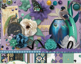 Pretty As A Peacock Scrapbooking Elements and Embellishments