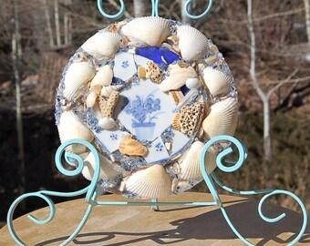 Seashell Beach Pottery Glass Mosaic