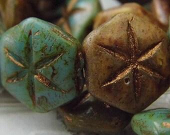Ancient Stars, Czech Beads, Beads