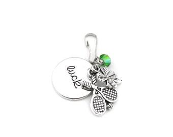 Tennis Gifts, Tennis Zipper Pull, Tennis Bag Charm, Tennis Player Gift, Tennis Zipper Charm, Tennis Team Gift