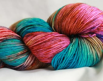 THROB - Speckle dyed Super wash merino single ply 100 grams (400 yds) free shipping