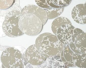 Silver Circle Confetti, Wedding Confetti, Silver Confetti, Party Decorations, Bridal Party Decor, Wedding Decor, Bachelorette Party Confetti