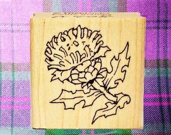 Small Scottish Thistle Rubber Stamp Icon of Scotland #408