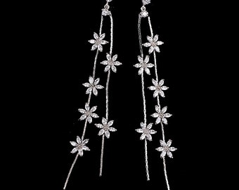 Mother's Day CZ White Gold Earrings