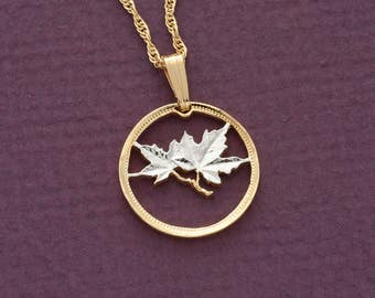 Maple leaf pendant etsy canada maple leaf pendant aloadofball Gallery
