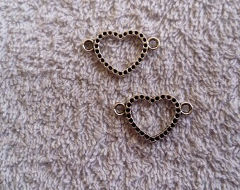 Heart connector charms