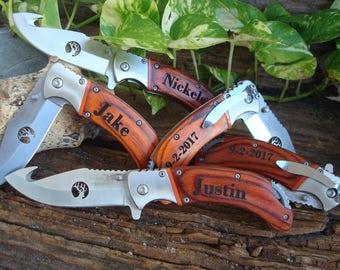 Personalized Engraved Pocket Knife/Laser Engraved, personalized knife, wedding knife, anniversary gift, groomsman knife, best man knife 162