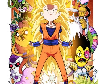 Dragon Time Z (Adventure Time & Dragon Ball Crossover) 11×17 print