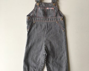 12M Vintage Health-Tex Kid's Hickory Overalls