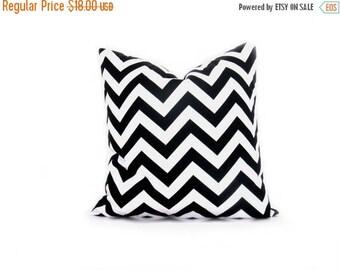 15% Off Sale Black Pillow, Decorative pillow covers,  Black pillow cover ,Chevron, Accent Pillows 20x20 Pillow Cover Accent Pillow Toss Pill