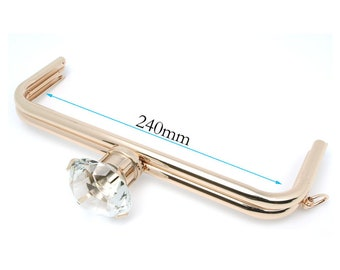 "9""1/2""inch(240mm) Purse Frame with chain loop Gold Bag Frames Sewing Frame handbag hardware metal purse frames for purse making"