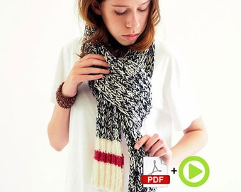 Sock Monkey Scarf - online video course for beginners