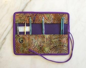 Crochet Hook Case/Roll/Organizer; Storage Case, Crochet Hook Travel Case
