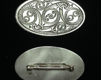 Oval Pictish Shield Brooch Pin