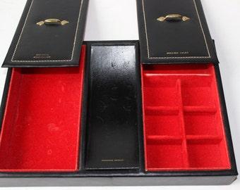 Vintage Leather Mens Dresser Valet Gift for Him Ashe of Kansas Dresser Organizer Mens Jewelry Box