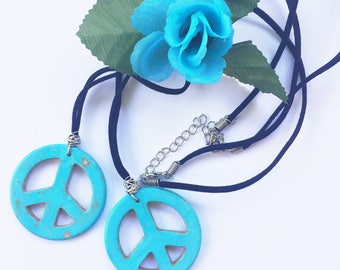 Sale - 2 Howlite Friendship Necklaces