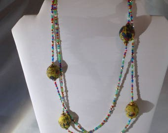 Abstract long necklace