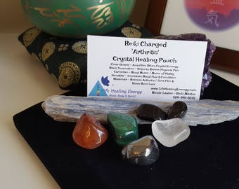 Reiki Charged 'Arthritis' Crystal Healing Pouch