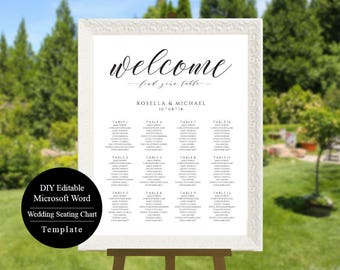 Printable Seating Chart, Wedding Seating Chart Template, Wedding Seating Plan, Wedding Seating Chart Sign DIY Seating Chart Printable, MSW16