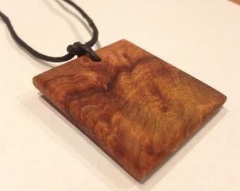 Wood Pendant - Wood Pendant Necklace - Wood Jewelry - Wood Necklace