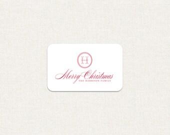 Custom holiday merry christmas gift tags