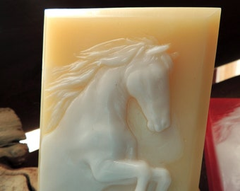 HORSE SOAP, Horse of Many Colors, Stallion, Painted Horse, Custom Scented, Equestrian Soap