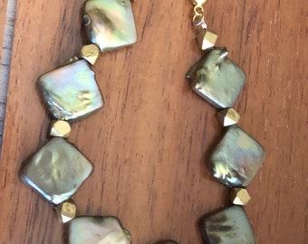 Freshwater Square Pearl Adjustable Bracelet