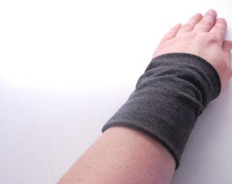 GRIS foncé Stretch poignet manchette gris poignet Bracelet mode accessoire femme Teens poignet tatouage couverture