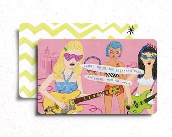 Girl Rock Band Postcard