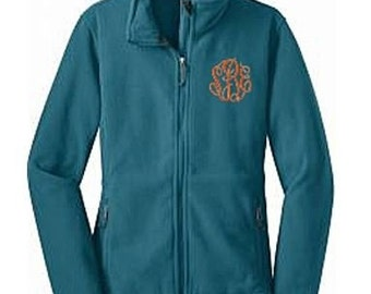 Monogrammed Womens Fleece Jacket, Embroidered Jacket, Adult Fleece Jacket, Monogram Zip Up, Monogram Fleece, Monogrammed Jacket, Fleece Coat