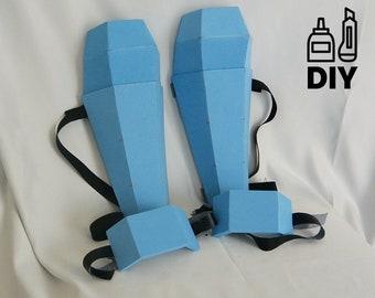 DIY Basic shin guards & boot guards templates for EVA foam